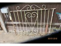 Pair heavy wrought iron drive gates circa 1960