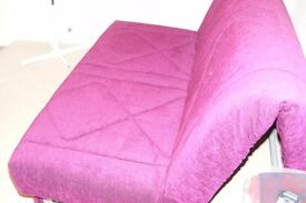 Dark pink/ fuschia colour fabric sofa bed in excellent condition from Furniture Village
