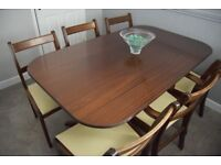 Mahogany reproduction table and 6 chairs