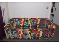 Klippan sofa from Ikea very niece colourfull Comfy can deliver free in manchester
