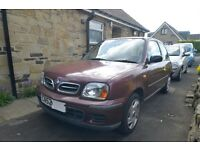 Nissan Micra S 2002 MOT Feb18 low milage in daily use first £100 must go today