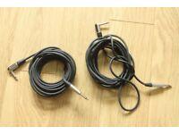 Two cables 5m long with neutrik connectors