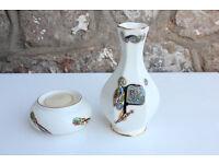 Irish Pottery Vase and Candle Holder Tealight Royal Tara Celtic Knotwork Ireland China