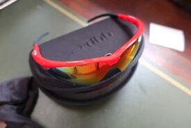 DHB Pro triple lens sunglasses - choice of White frame or Red frame - New bargain