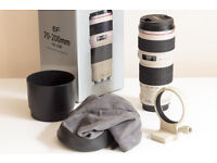 Canon EF 70-200 F4 L Telephoto Zoom Lens 70-200mm F/4 With Tripod Collar