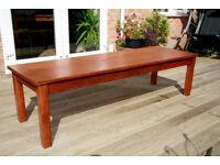 Vintage Mid Century Long Oak Laboratory Table Large/ Coffee/Hall Table