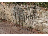 """1 xHeavy Old Steel gate (No hinge fixings) approx 46"""" wide x 40 """" high"""