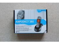 Geemarc AMPLIDECT 285 loud cordless telephone | inc. answering machine | Never Used | RRP £74.99