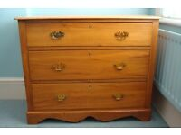 ****Large Victorian Chest Of Drawers in Solid Pine Wood****
