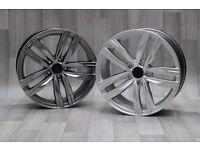 "18""PH 4 R-Line Style Alloy wheels & Tyres A4, A3 MK2 MK3 VW Passat, Jetta, Golf MK5, MK6, MK7, Caddy"
