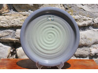 "Large Handmade Glazed Terracotta Platter 13"" Plant Stand Art Pottery Studio kiltrea bridge pottery"