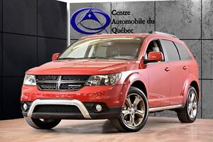 2016 Dodge Journey Crossroad AWD CUIR TOIT NAV TV/DVD 158$/2SEM+
