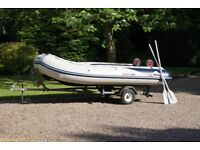 Inflatable Boat Honwave T35 3.50m inflatable good condition complete with road trailer