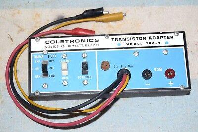 Coletronics Tra-1 Transistor Adapter Tester For Vom V-o-m Fully Tested