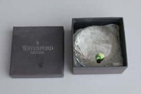 Unusual Boxed Waterford Crystal Paperweight Royal Military Tattoo 2000 Paper Weight Rare Irish