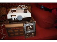 Rank Aldis Slide Projector used a couple of times and in original packaging.