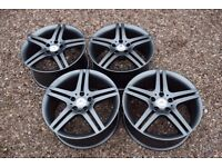 "Genuine 18"" Mercedes W203 CLC C Class AMG Alloy Wheels Staggered Satin Grey E"