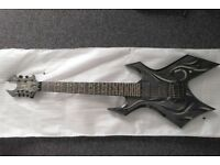 [SALE ENDS SUNDAY] B.C. Rich KK7 Kerry King Wartribe 7 Warlock - Tribal Fire, neck-thru