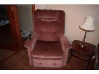 Recliner and riser armchair