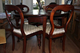 Dining Table & 4 Chairs - Mahogany