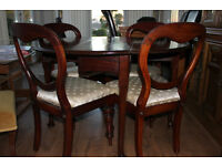 Dining Table & 4 Chairs - Mahogany