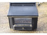 Black Beauty Slimline Gas Fire, Freestanding, Coal feature, Gold Colour Fittings £45 ono