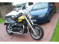 Triumph Speedmaster, 11 months Mot, excellent Spec, very good condition, may swap for a good car.