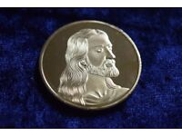 Gold Jesus / Last Supper Christmas Coin