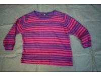 Ladies ISLE Essentials Stripped Wool Jumper