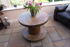 new bespoke coffee table with bun feet and waxed