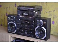 TECHNICS AMP EQ CD TUNER TAPE TURNTABLE SPEAKERS HIFI STEREO RECORD PLAYER