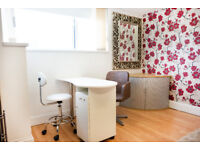 Treatment/beauty/ therapy rooms to rent