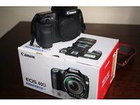 Canon 40D DSLR camera, Canon BG-E2N battery grip,Tamrac Digital Series Camera Bag ,Manfrotto 055PROB