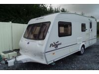 bailey pageant 2004 4 berth touring caravan with sun canopy