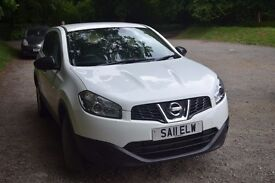 """2011 WHITE NISSAN QASHQAI DIESEL 1.5 dCi Visia Pure drive (6 Speed) GREAT FAMILY CAR""""REDUCE"""""""