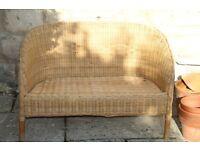 charming wicker sofa for children