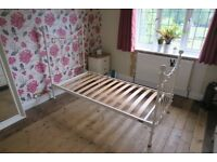 Laura Ashley Single Off White Bed Frame