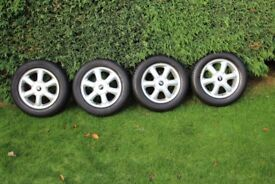 Mini Alloy Wheels 15in with Tyres