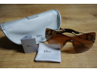 Genuine DIOR sunglasses with case, label and polishing cloth
