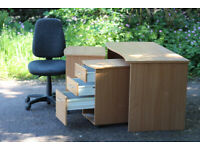 3 piece office desk and drawers for working from home