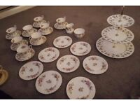 GORGEOUS Royal Albert Bone China Moss Rose Tea set 27 pieces MINT CONDITION