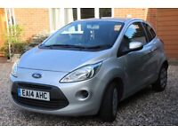 Ford KA Edge 1.2 (2014) Silver 3 door hatch back. In perfect condition.