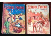 7 vintage School Friend Annuals - 1945, 1949, 1953, 1954, 1955, 1957, 1958