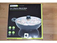 New prolectrix 2 in 1 electric wok & stove
