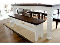 Farmhouse style dining bench