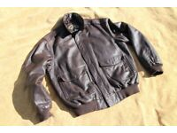 AMERICAN ORVIS A2 STYLE BOMBER MILITARY JACKET SIZE LARGE 40/42