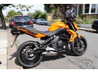 2010 Kawasaki ER6n in best Orange Color. Great Condition. Garaged.