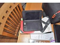 3DS XL, Red and Black + 7 games