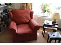 Three piece suite. Sofa and two Arm Chairs