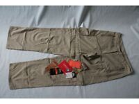 TRESPASS Mushroom Sporran Ladies DuoSkin Zip off Trousers XS TP100 uv protect Mosquito insect rep